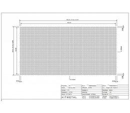 Wire Diameter 4.0, Dimensions 3000 x 1500 mm