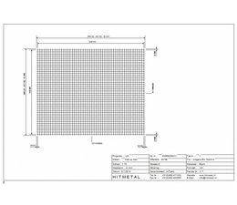Draaddiameter 3.0, Afmeting 2500 x 2000 mm