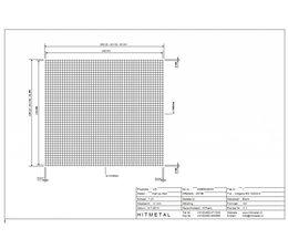 Drahtdurchmesser 3.0, Abmessungen 2500 x 2250 mm