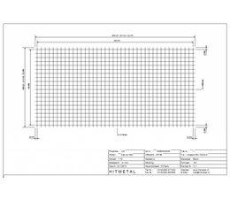 Draaddiameter 4,0, Afmeting 2000 x 1000 mm