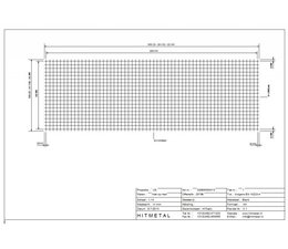 Wire Diameter 5.0, Dimensions 3000 x 1000 mm