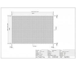 Drahtdurchmesser 5.0, Abmessungen 3000 x 2000 mm