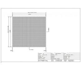 Draaddiameter 3,4, Afmeting 2500 x 2250 mm