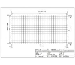 Wire Diameter 5.0, Dimensions 3000 x 1500 mm