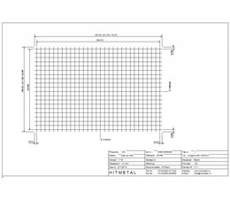 Wire Diameter 5.0, Dimensions 3000 x 2000 mm