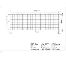 Drahtdurchmesser 6.0, Abmessungen 3000 x 1000 mm