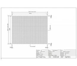 Draaddiameter 4,0, Afmeting 2000 x 1600 mm