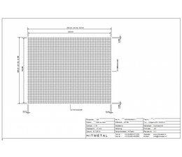 Drahtdurchmesser 4.0, Abmessungen 2500 x 2000 mm