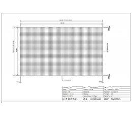 Drahtdurchmesser 4.0, Abmessungen 3600 x 2100 mm