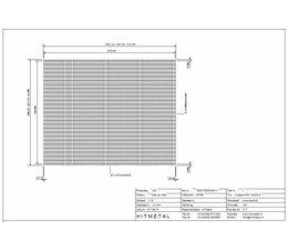 Drahtdurchmesser 3.4, Abmessungen 2500 x 2000 mm