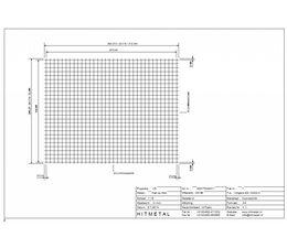 Drahtdurchmesser 3.4, Abmessungen 2250 x 2000 mm
