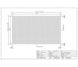 Drahtdurchmesser 3.4, Abmessungen 3600 x 2100 mm