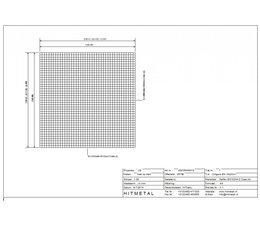 Drahtdurchmesser 4.0, Abmessungen 2100 x 2100 mm