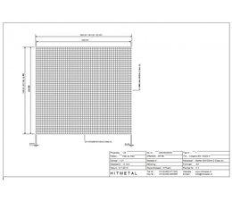 Drahtdurchmesser 4.0, Abmessungen 2500 x 2250 mm