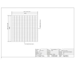 Draaddiameter 4,5, Afmeting 1000 x 1000 mm