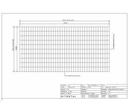 Drahtdurchmesser 4.5, Abmessungen 1000 x 2000 mm