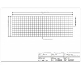 Wire Diameter 4.5, Dimensions 3000 x 1000 mm