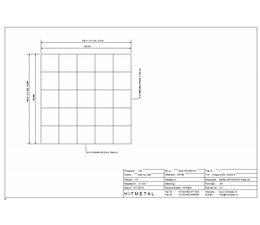 Drahtdurchmesser 4.5, Abmessungen 500 x 500 mm