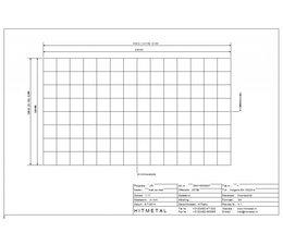 Drahtdurchmesser 3.0, Abmessungen 2100 x 1200 mm