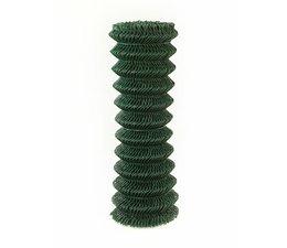 Harmonica mesh, plastic coated RAL6009 green, 50 x 3.1 mm