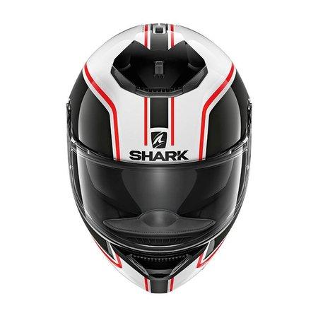 Shark SPARTAN 1.2 PRIONA WHITE BLACK RED