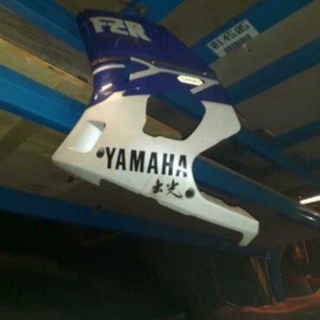 Yamaha origineel YAMAHA FZR400R zij kap/ kuipdeel links 1989