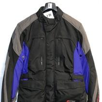 Revit Textiel motorjas maat L zwart grijs met blauw