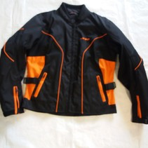 Jag dames jas zwart /oranje doorwaai