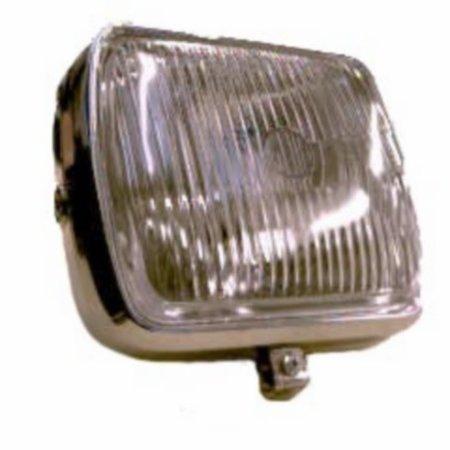 koplamp vierkant zundapp chroom