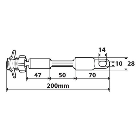 Opti-Line Opti-arm, bevestiging voor smartphone-hoes met flexibele arm en gat van 10 x 14 mm