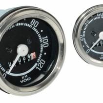 km tellerklok 60 mm  120km/ u kreid/ maxi/ puch/ zun