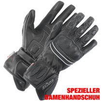 Buse pitlane zwart dames handschoen