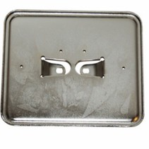 Kentekenplaathouder liggend metaal/chroom