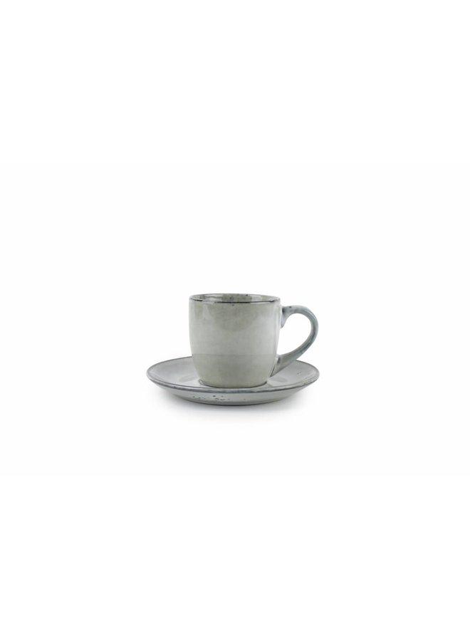 ARTISAN kop en schotel 220 ml (groen) set/4