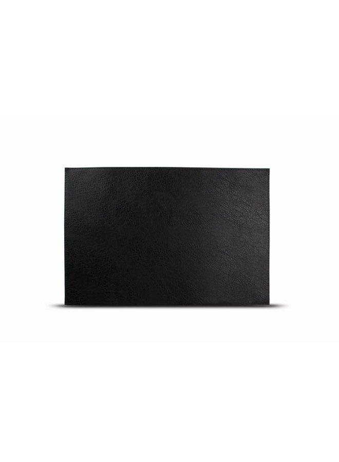 Placemat lederlook zwart (set/4)