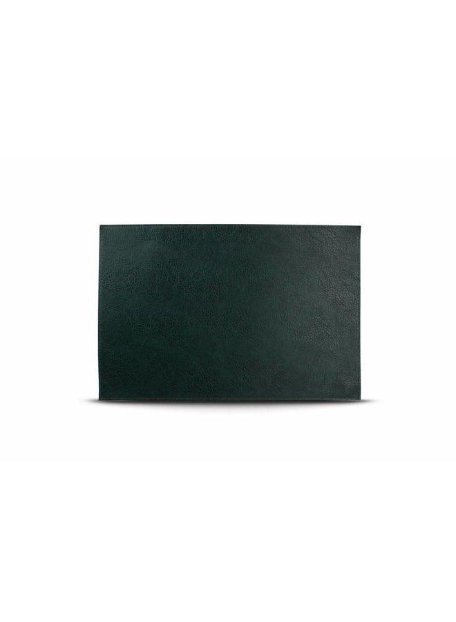 Placemat lederlook groen (set/4)
