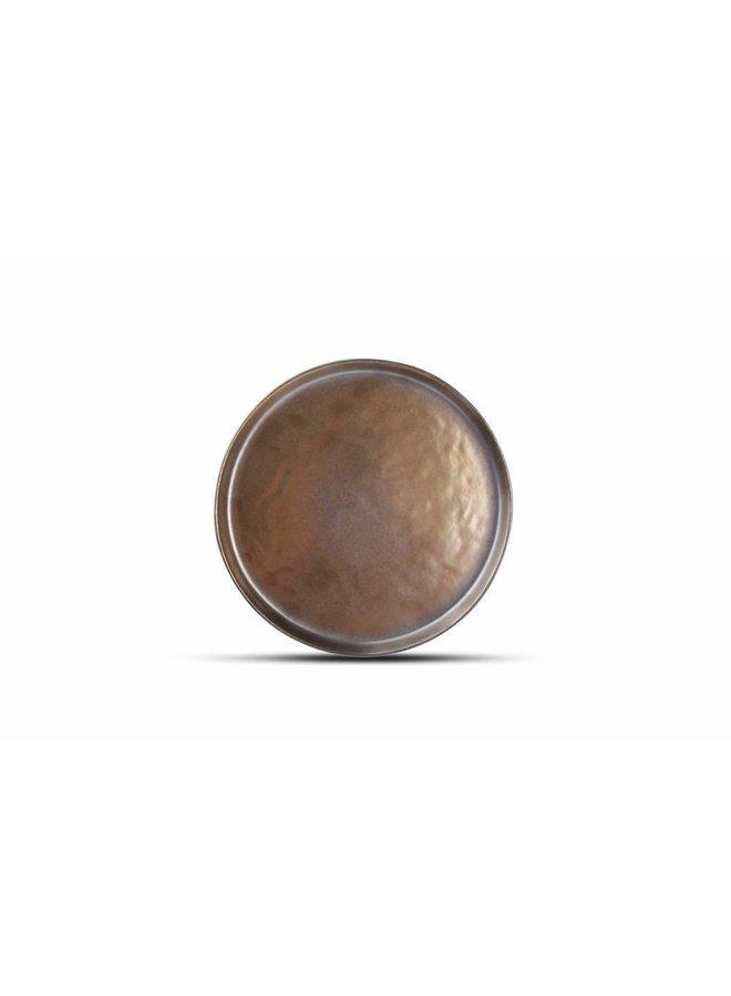 Plat bord 22 cm BLACK&GOLD goud (set/4) 803300