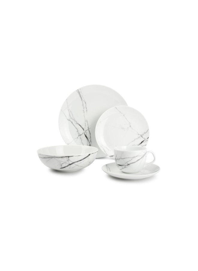 MARBLE servies stone 20-delig