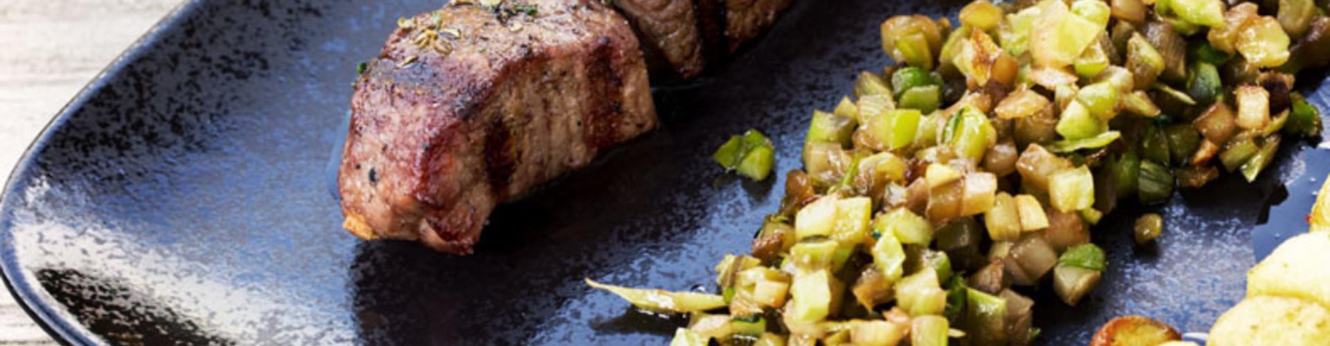 Hertenspies met broccolirijst