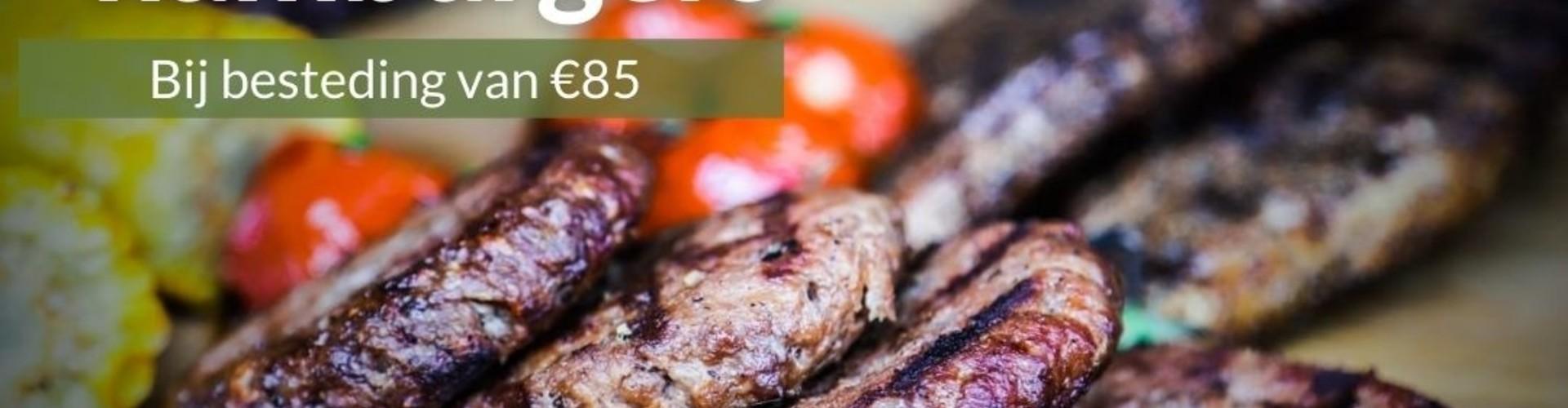 ACTIE VERLOPEN GRATIS 5 hamburgers bij besteding van €85,-