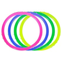 Folat - Armbandjes - Felle kleuren - Met glittersteentje - 4st
