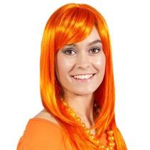Folat - Pruik - Oranje - Half lang - Holland