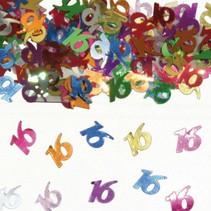 Folat - Tafeldecoratie/confetti - 16 Jaar - 14gr.