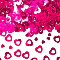 Folat - Tafeldecoratie/confetti - Hartjes - Roze