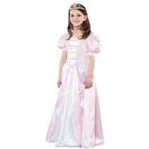 Witbaard - Kostuum - Jurk - Prinses - Roze/wit - mt.128