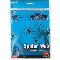 Smiffys - Spinnenweb - Met 6 spinnen