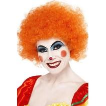 Smiffys - Pruik - Afro - Oranje