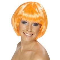 Smiffys - Pruik - Bobline - Neon oranje