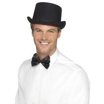 Smiffys - Hoed - Hoge hoed - Satijn - Zwart