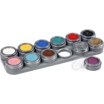 Grimas - Water make-up - Palet A - Basiskleuren - 12x2,5ml